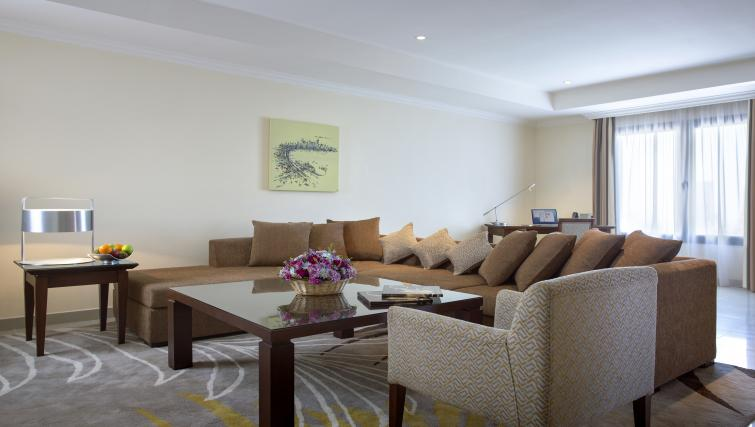 Sophisticated living area at Sedra Residences