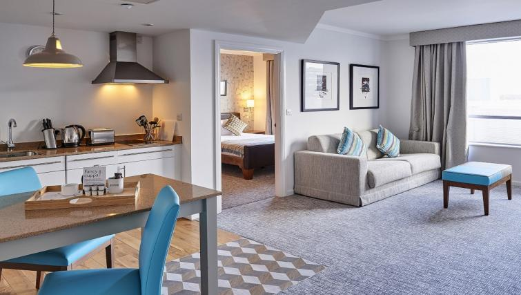 Living space at Staybridge Suites Liverpool