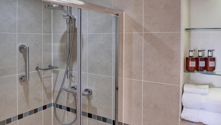Shower room at Staybridge Suites Liverpool