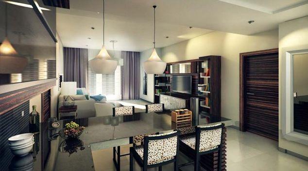 Living area at Ascott Rafal Olaya Apartments