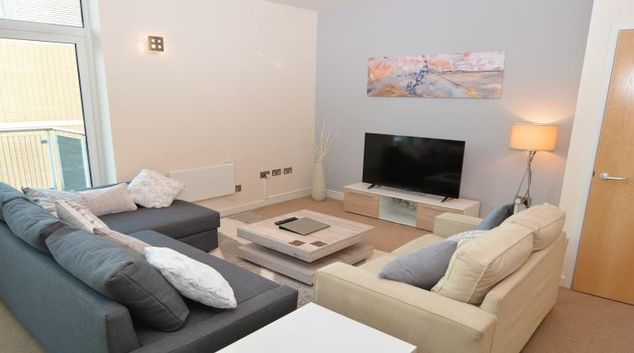 Comfortable living area at Silbury View Apartment