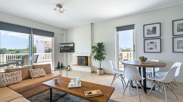 Living area at Okeanidon Apartment