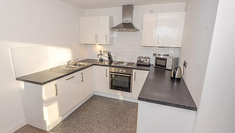 Fully equipped kitchen at Dream Apartments Belfast Obel