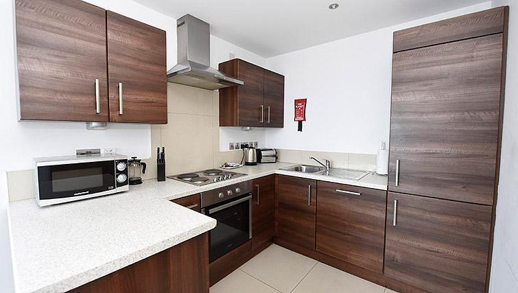 Modern kitchen at Dream Apartments Belfast Obel