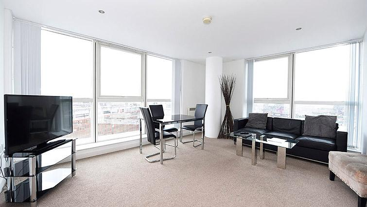 Bright dining area at Dream Apartments Belfast Obel
