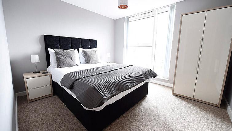 Comfy bed at Dream Apartments Belfast Obel