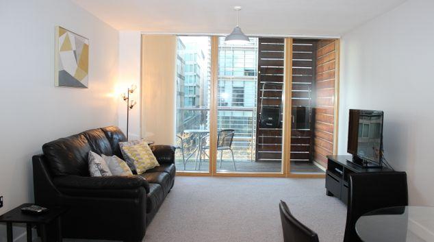 Living area at Cotels Vizion Apartments, Centre, Milton Keynes