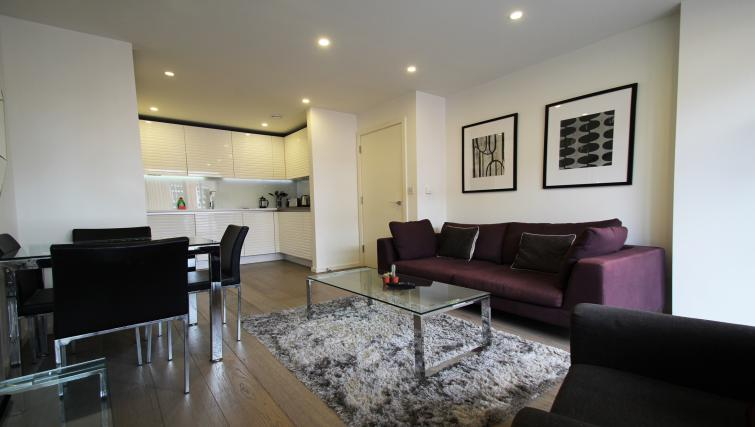 Living area at Angel Apartments
