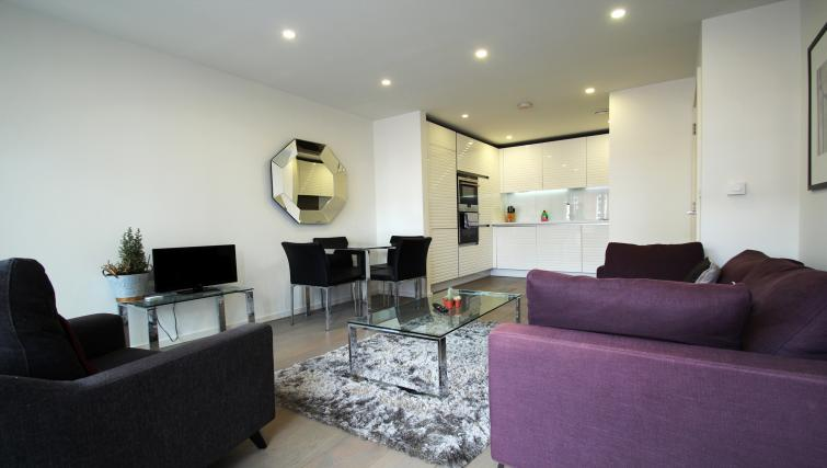 Living space at Angel Apartments