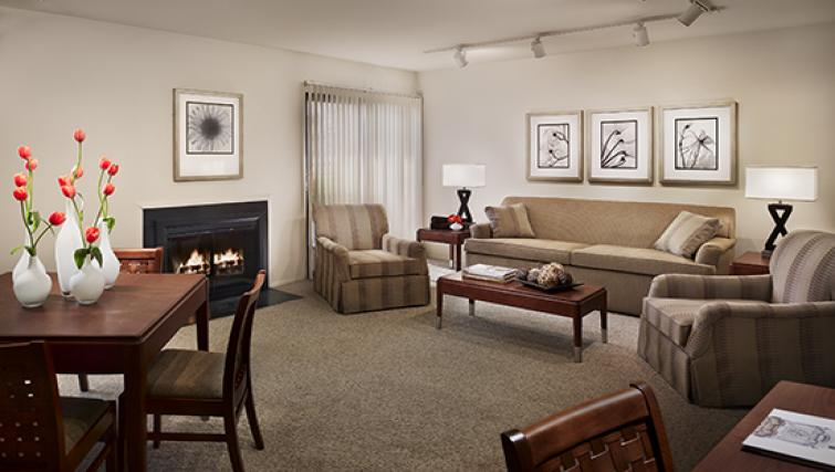 Living room at AVE Blue Bell Townhouses