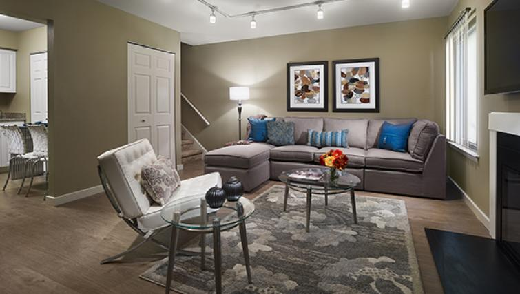 Living area at AVE Blue Bell Townhouses
