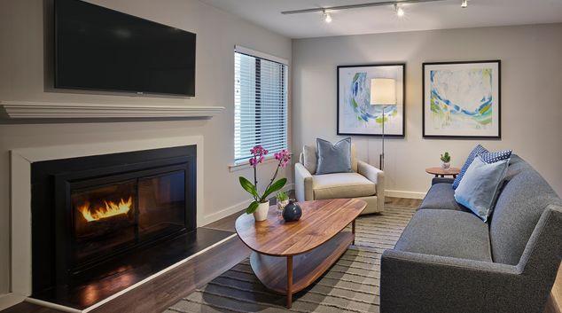 Living room at AVE Blue Bell Townhouses, Blue Bell, Philadelphia