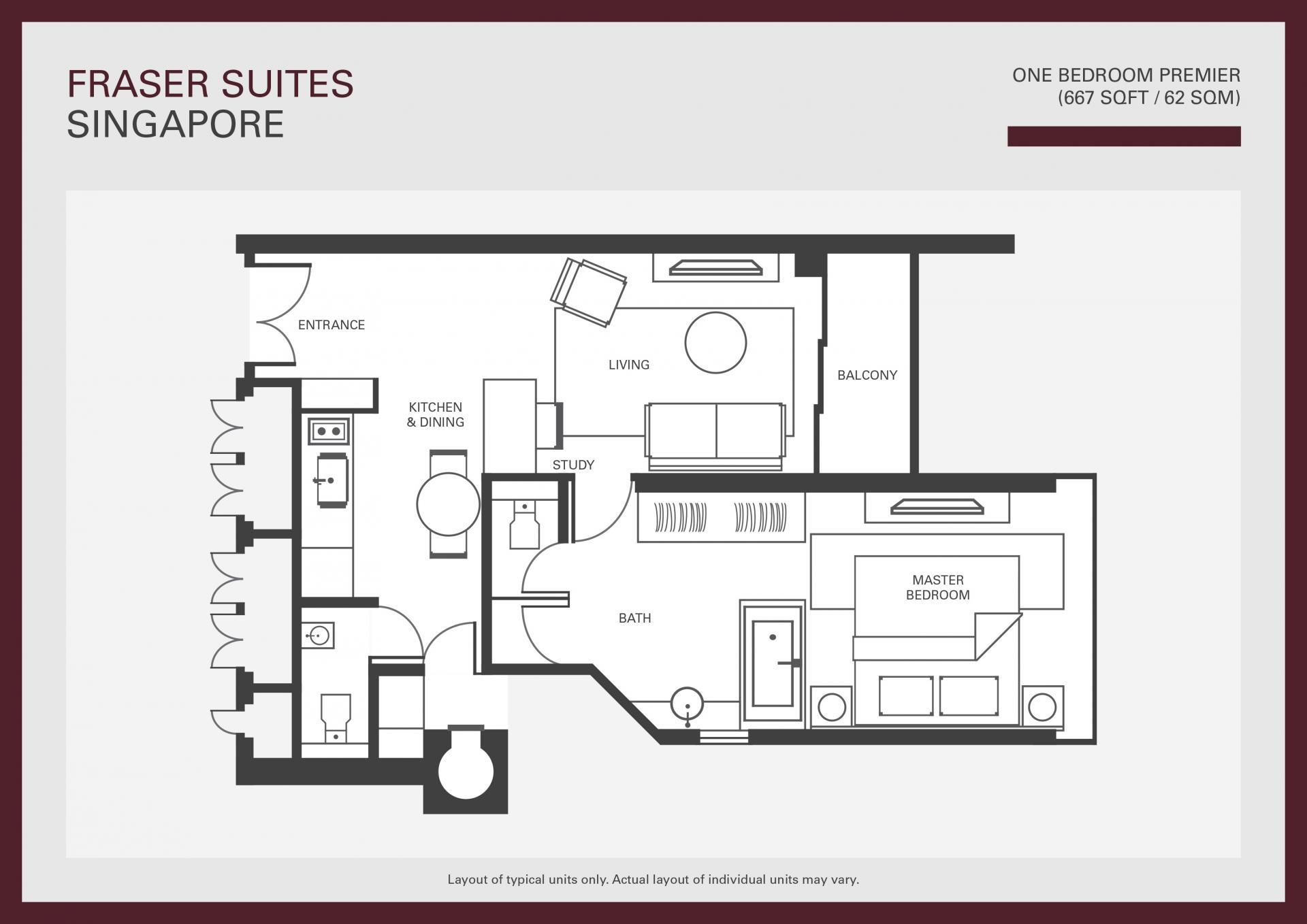 Floorplan 1 at Fraser Suites Singapore