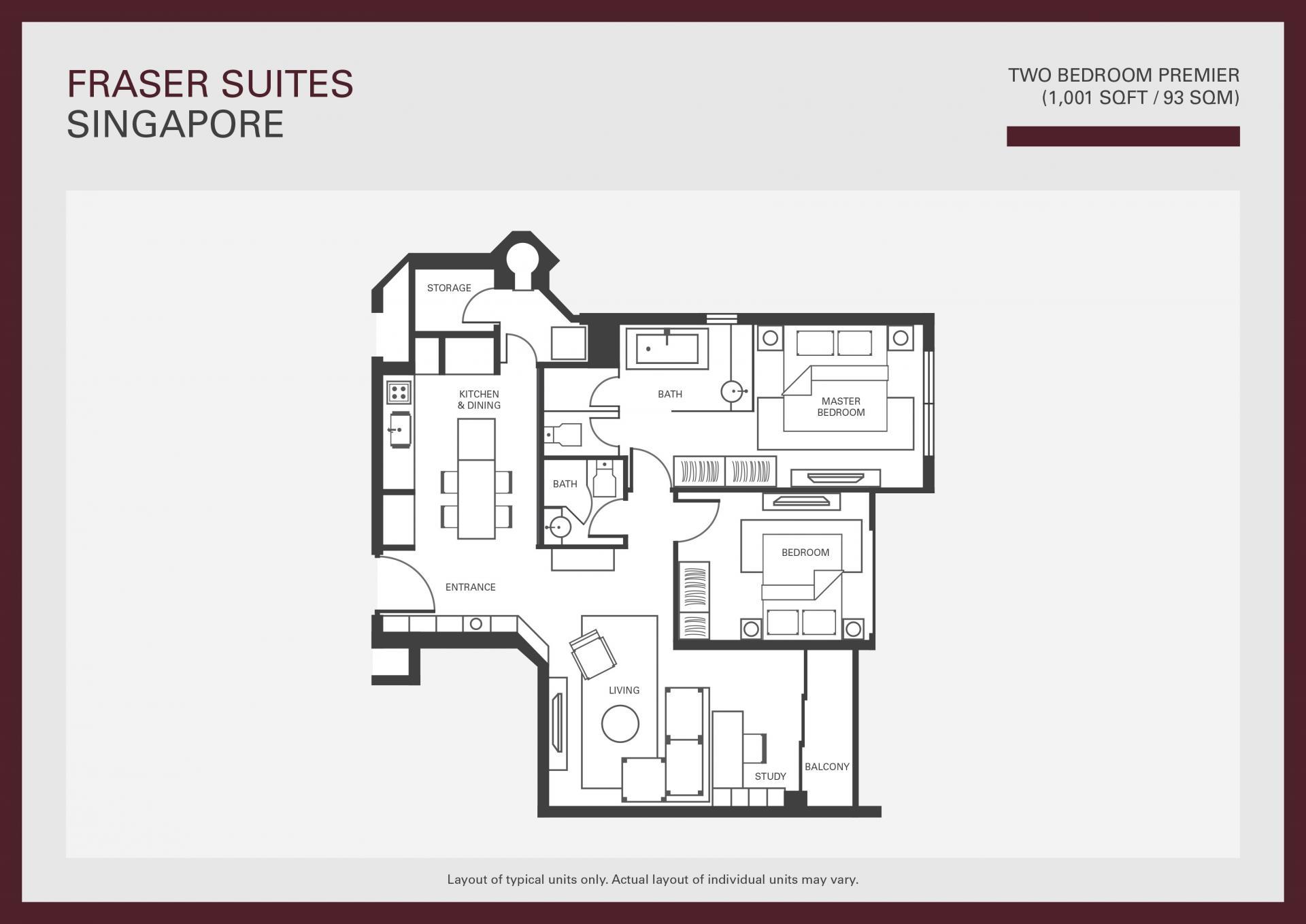 Floorplan 2 at Fraser Suites Singapore