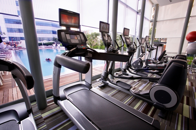 Gym at Fraser Suites Singapore