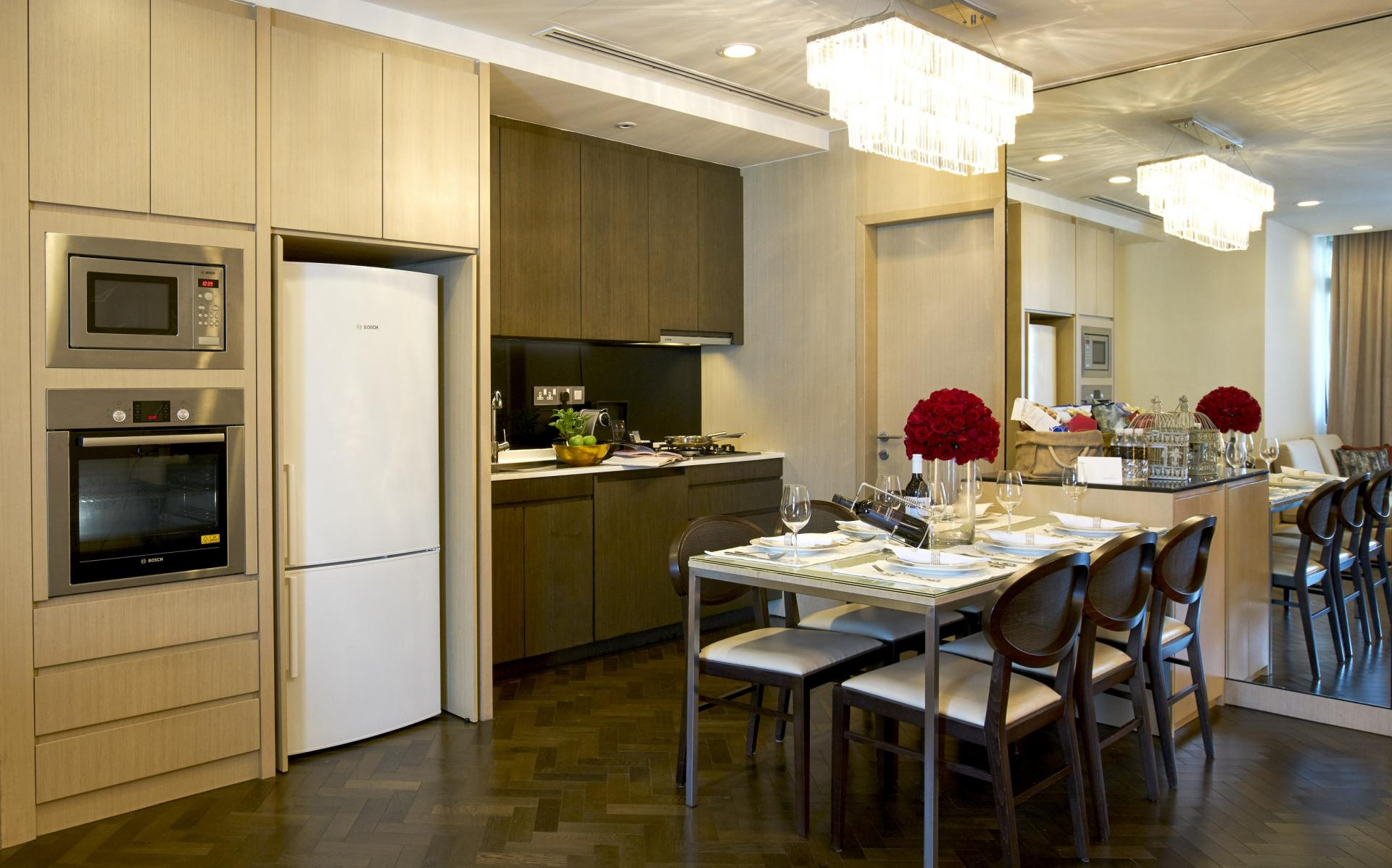 Kitchen facilities at Fraser Suites Singapore