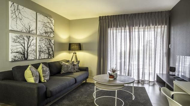 Homely living area at Bryanston Drive Apartments