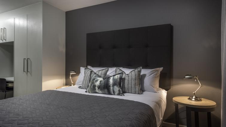 Comfortable bedroom at Bryanston Drive Apartments