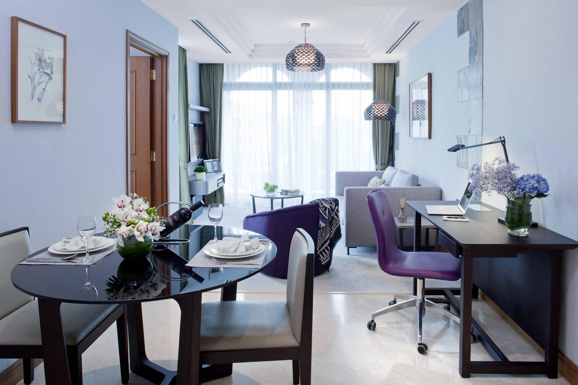 Stylish living area at Fraser Place Robertson Walk Singapore