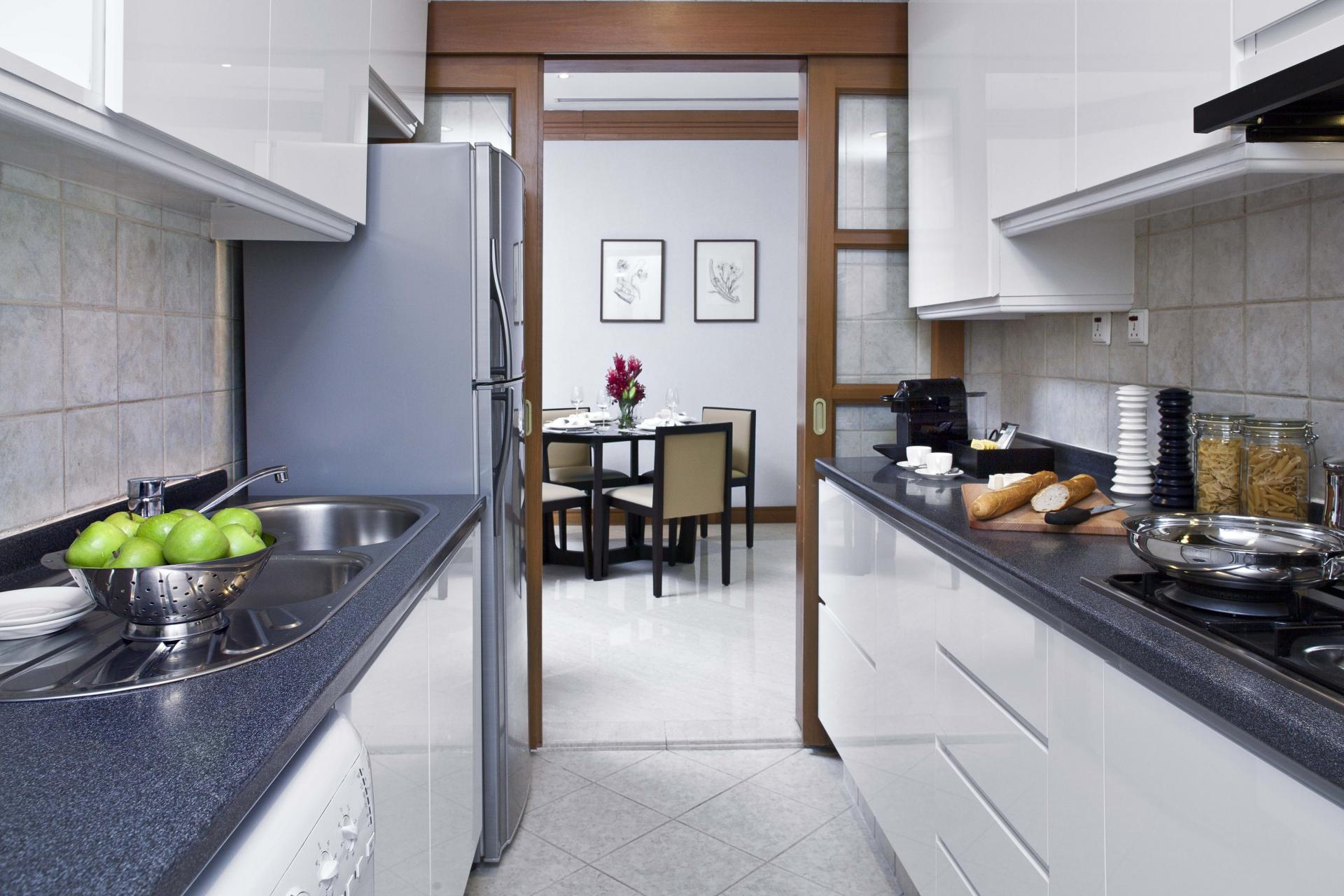 Kitchen facilities at Fraser Place Robertson Walk Singapore