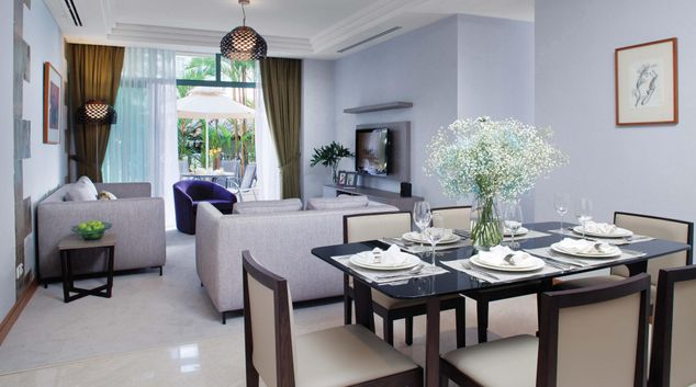Living room at Fraser Place Robertson Walk Singapore