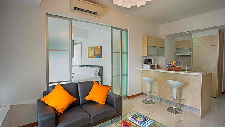 Sofa at Marina Boulevard Singapore Apartments