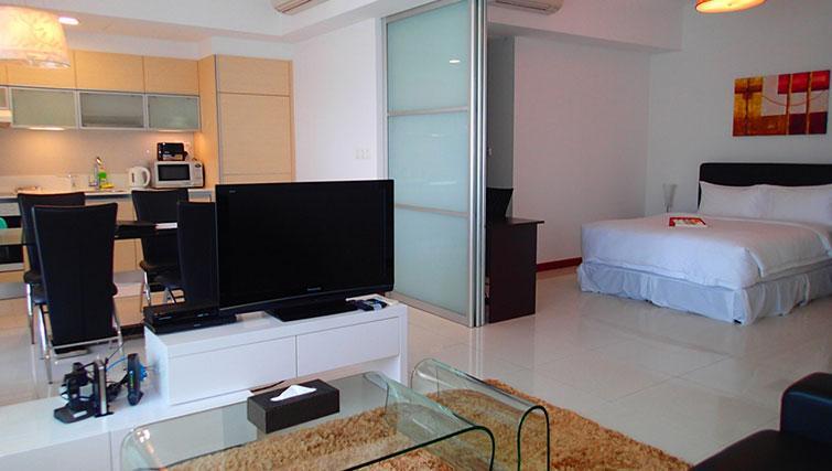 Television at Marina Boulevard Singapore Apartments