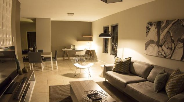 Homely living area at Rivonia Apartments