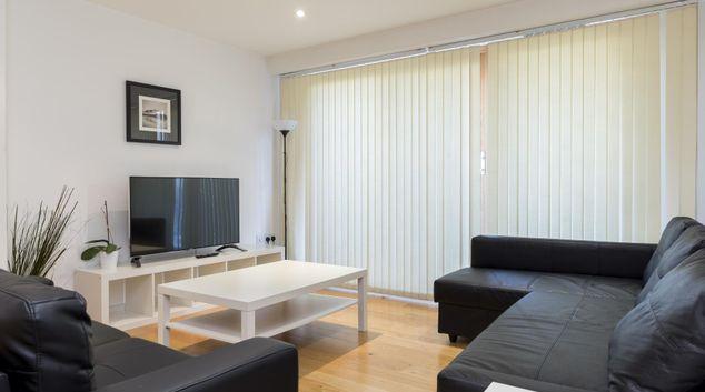 Living area at Latitude Apartments, Croydon, London
