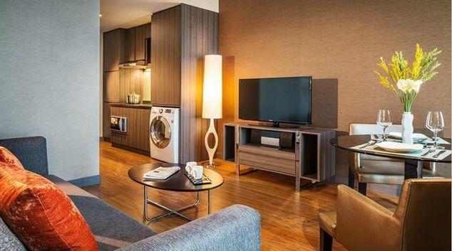 Stylish living area at Park Avenue Changi Apartments, Singapore