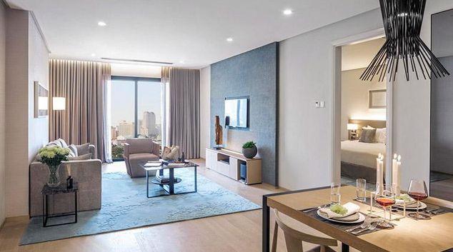 Living area at Fraser Residence Kuala Lumpur