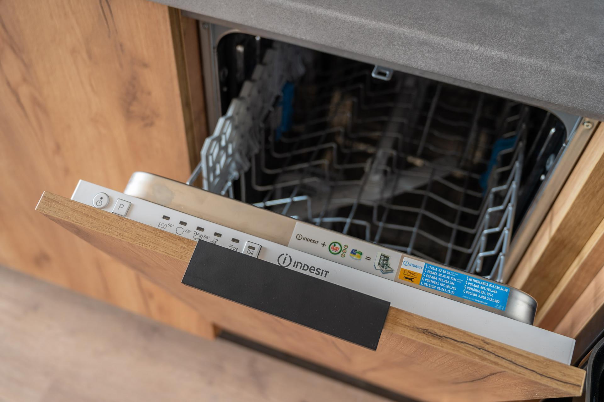 Dishwasher at Cybernetyki 4 Apartment, Sluzewiec, Warsaw