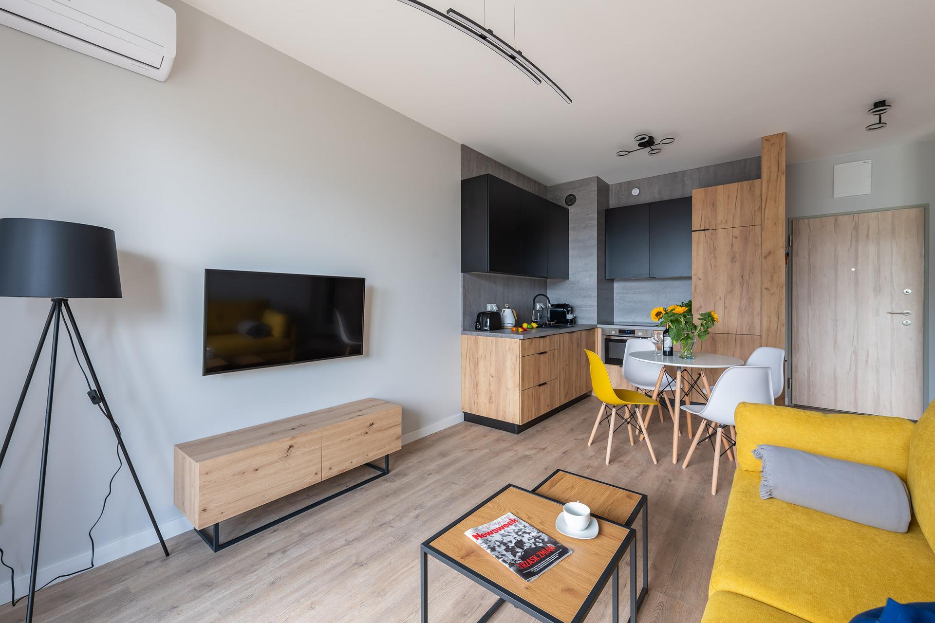 Television at Cybernetyki 4 Apartment, Sluzewiec, Warsaw