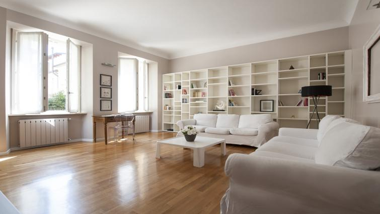 Spacious living area at San Rocco Apartment