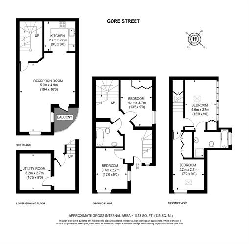 Floor plan at Gore Street Apartment