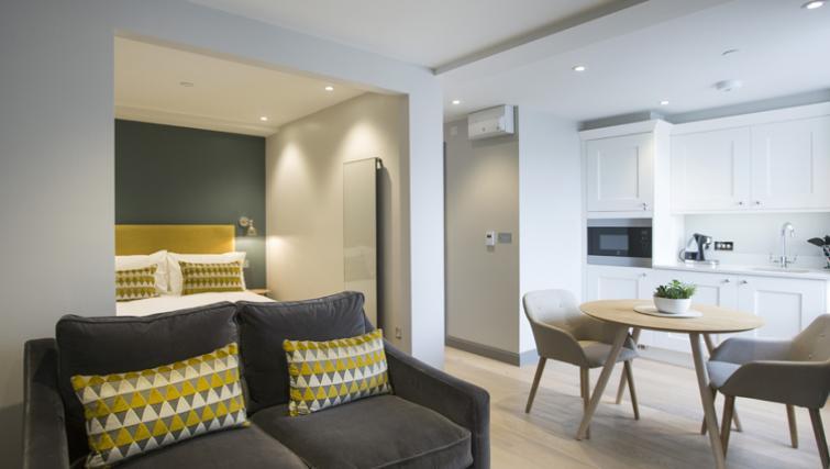 Sleek living area at the Waterloo Street Apartments
