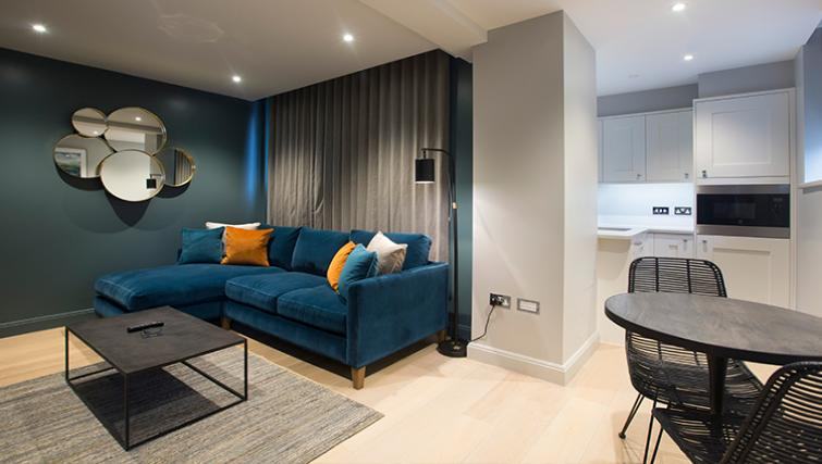 Stylish living area at the Waterloo Street Apartments