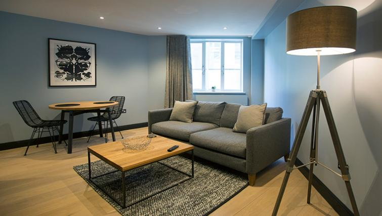 Cosy living space at the Waterloo Street Apartments