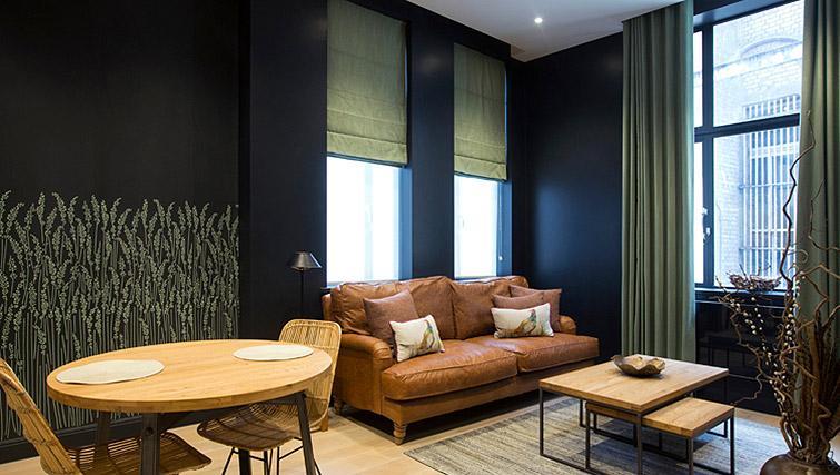 Sofa at the Waterloo Street Apartments