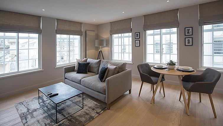 Living area at the Waterloo Street Apartments