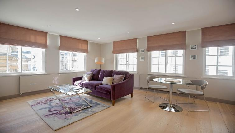 Large living space at the Waterloo Street Apartments