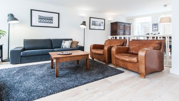 Stylish living area at Nieuwmarkt-Waag 3 Apartments, Amsterdam