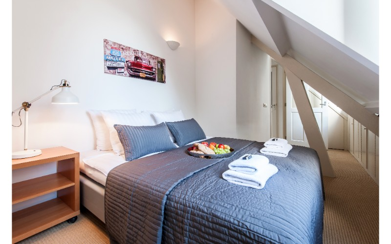 Cosy bedroom at Nieuwmarkt-Waag 3 Apartments, Amsterdam