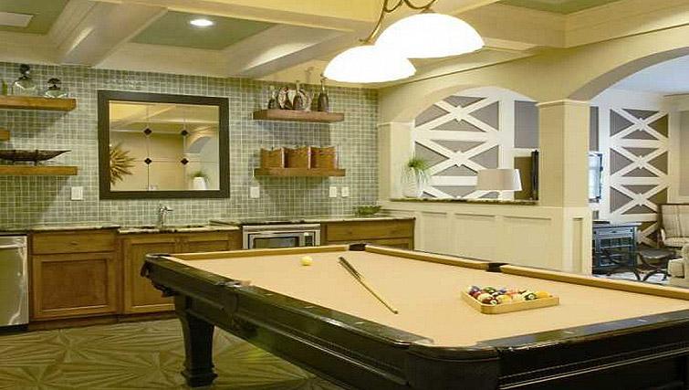 Pool table at Gables Sheridan Apartment