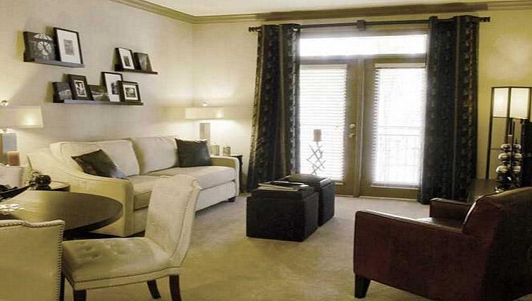 Living area at Gables Sheridan Apartment