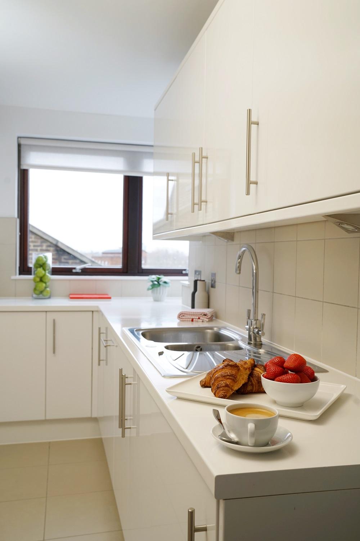 Kitchen at Monarch House, Kensington, London