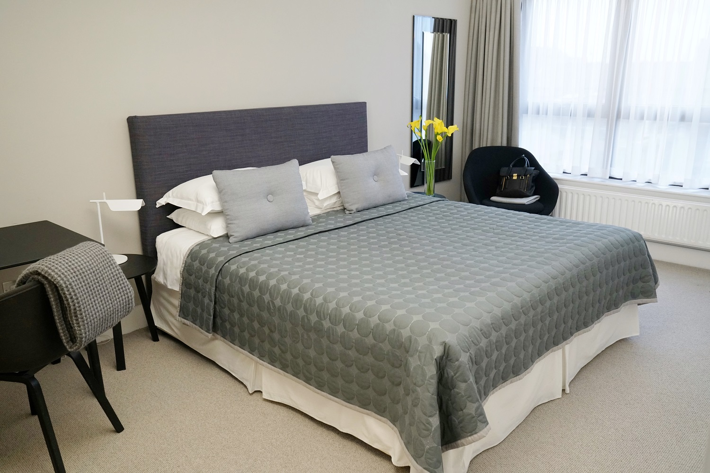 Bed at Monarch House, Kensington, London