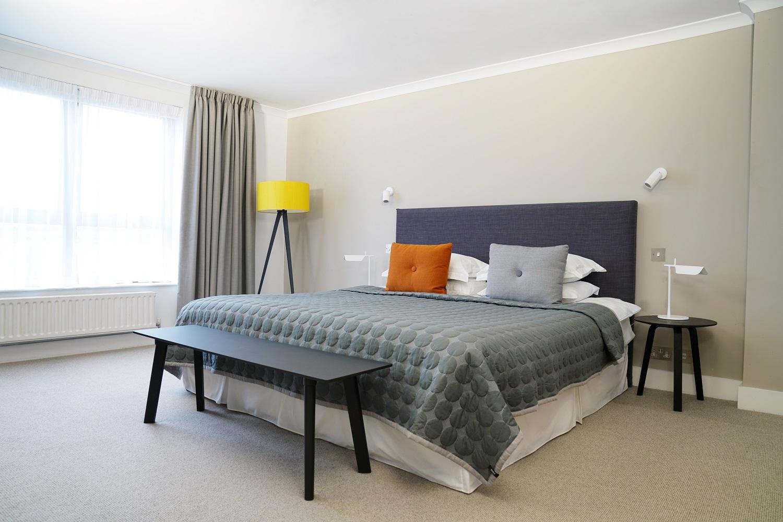 Bedroom at Monarch House, Kensington, London
