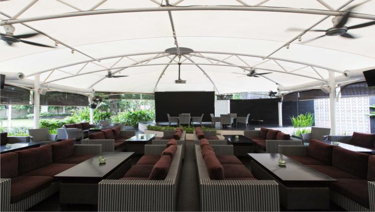 Outdoor lounge at the Hotel Kristal Jakarta