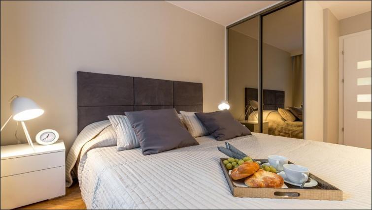 Comfortable bed at Chmielna Apartment